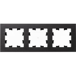Рамка 3-ая (тройная), Металл Оникс, серия Atlas Design Nature, Schneider Electric