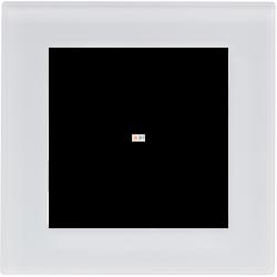 Рамка 1-ая (одинарная), Стекло Матовое Белое, серия Atlas Design Nature, Schneider Electric