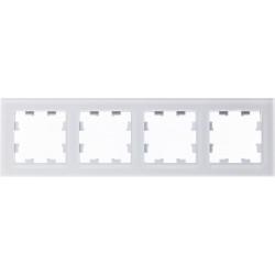 Рамка 4-ая (четверная), Стекло Матовое Белое, серия Atlas Design Nature, Schneider Electric