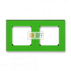 Рамка 2-ая (двойная), цвет Зеленый/Дымчатый черный, Levit, ABB