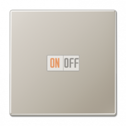 Выключатель 1-клавишный; кнопочный , цвет Edelstahl (сталь), LS990, Jung