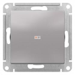Выключатель 1-клавишный; кнопочный, Алюминий, серия Atlas Design, Schneider Electric