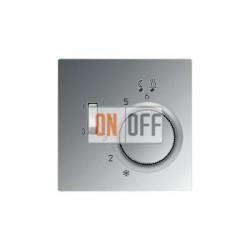 Терморегулятор для теплого пола (оригинальный), цвет Алюминий (металл), LS990, Jung