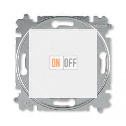 Выключатель 1-клавишный; кнопочный, цвет Белый/Белый, Levit, ABB