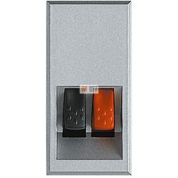 Установочная розетка аудио для колонок 1-ая 1 мод, цвет Алюминий, Axolute, Bticino