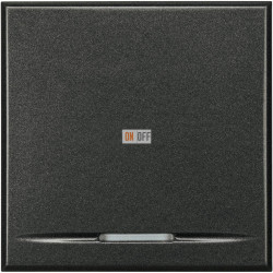 Выключатель 1-клавишный ,проходной (с двух мест) (винтовые клеммы), цвет Антрацит, Axolute, Bticino