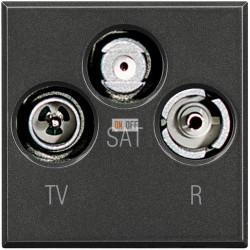 Розетка телевизионная оконечная ТV-FМ-SАТ, цвет Антрацит, Axolute, Bticino