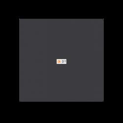 Выключатель 1-клавишный, Карбон, серия Atlas Design, Schneider Electric