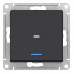 Выключатель 1-клавишный ,проходной с индикацией (с двух мест), Карбон, серия Atlas Design, Schneider Electric