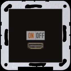 Розетка HDMI 1-ая (разъем), цвет Черный, A500, Jung