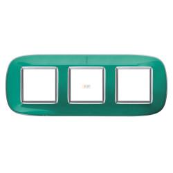Рамка 3-ая (тройная) эллипс, цвет Мятная карамель, Axolute, Bticino