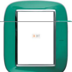 Рамка итальянский стандарт 3+3 мод прямоугольная, цвет Мятная карамель, Axolute, Bticino
