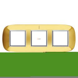 Рамка 3-ая (тройная) эллипс, цвет Золото, Axolute, Bticino