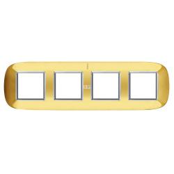 Рамка 4-ая (четверная) эллипс, цвет Золото, Axolute, Bticino