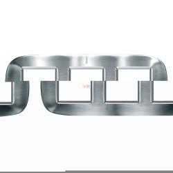 Рамка 3-ая (тройная) эллипс, цвет Сталь Фактурная, Axolute, Bticino