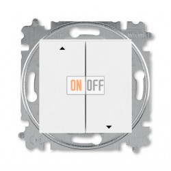 Выключатель для жалюзи (рольставней) кнопочный, цвет Белый/Белый, Levit, ABB