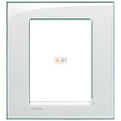 Рамка итальянский стандарт 3+3 мод прямоугольная, цвет Морская вода, LivingLight, Bticino