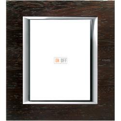 Рамка итальянский стандарт 3+3 мод прямоугольная, цвет Дерево Венге, Axolute, Bticino