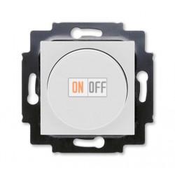 Диммер поворотно-нажимной , 600Вт для ламп накаливания, цвет Серый/Белый, Levit, ABB