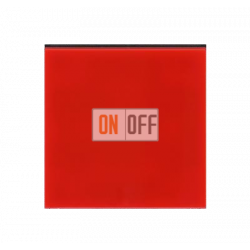 Выключатель 1-клавишный, цвет Красный/Дымчатый черный, Levit, ABB