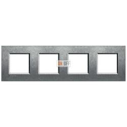 Рамка 4-ая (четверная) прямоугольная, цвет Исконный, LivingLight, Bticino