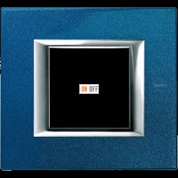 Рамка 1-ая (одинарная) прямоугольная, цвет Сапфир, Axolute, Bticino