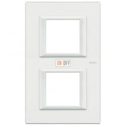 Рамка 2-ая (двойная) прямоугольная вертикальная, цвет White, Axolute, Bticino