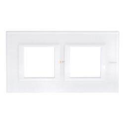 Рамка 2-ая (двойная) прямоугольная, цвет Стекло Белое, Axolute, Bticino