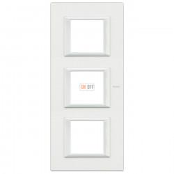 Рамка 3-ая (тройная) прямоугольная вертикальная, цвет White, Axolute, Bticino