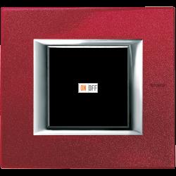 Рамка 1-ая (одинарная) прямоугольная, цвет Рубин, Axolute, Bticino