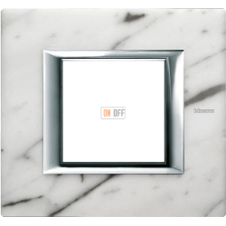 Рамка 1-ая (одинарная) прямоугольная, цвет Белый мрамор Каррара, Axolute, Bticino