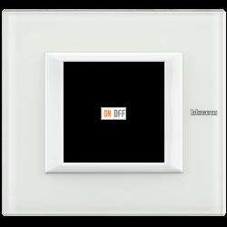 Рамка 1-ая (одинарная) прямоугольная, цвет Стекло Белое, Axolute, Bticino