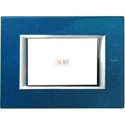 Рамка итальянский стандарт 3 мод прямоугольная, цвет Сапфир, Axolute, Bticino