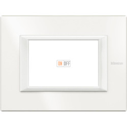 Рамка итальянский стандарт 3 мод прямоугольная, цвет White, Axolute, Bticino