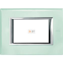 Рамка итальянский стандарт 3 мод прямоугольная, цвет Кристалл, Axolute, Bticino
