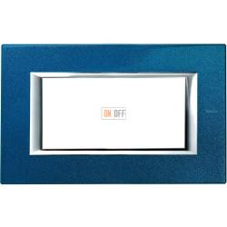 Рамка итальянский стандарт 4 мод прямоугольная, цвет Сапфир, Axolute, Bticino