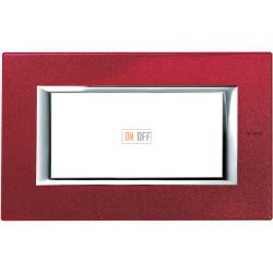 Рамка итальянский стандарт 4 мод прямоугольная, цвет Рубин, Axolute, Bticino