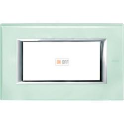Рамка итальянский стандарт 4 мод прямоугольная, цвет Кристалл, Axolute, Bticino