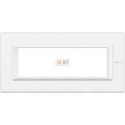 Рамка итальянский стандарт 6 мод прямоугольная, цвет White, Axolute, Bticino
