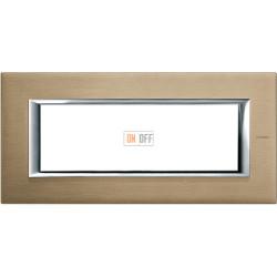 Рамка итальянский стандарт 6 мод прямоугольная, цвет Титан, Axolute, Bticino
