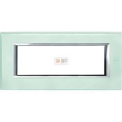 Рамка итальянский стандарт 6 мод прямоугольная, цвет Кристалл, Axolute, Bticino