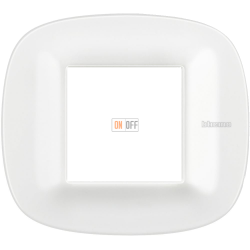 Рамка 1-ая (одинарная) эллипс, цвет Белый Corian, Axolute, Bticino