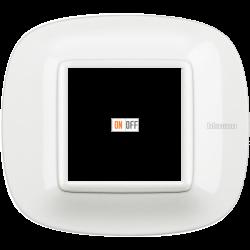 Рамка 1-ая (одинарная) эллипс, цвет White, Axolute, Bticino