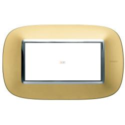Рамка итальянский стандарт 4 мод эллипс, цвет Золото матовое, Axolute, Bticino