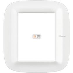 Рамка итальянский стандарт 3+3 мод эллипс, цвет Белый Corian, Axolute, Bticino