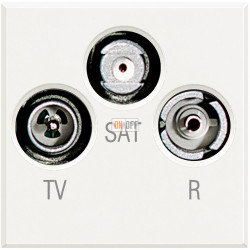 Розетка телевизионная оконечная ТV-FМ-SАТ, цвет Белый, Axolute, Bticino