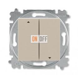 Выключатель для жалюзи (рольставней) кнопочный, цвет Макиато/Белый, Levit, ABB