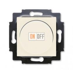 Диммер поворотно-нажимной , 600Вт для ламп накаливания, цвет Слоновая кость/Белый, Levit, ABB