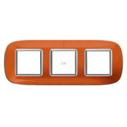 Рамка 3-ая (тройная) эллипс, цвет Апельсиновая карамель, Axolute, Bticino