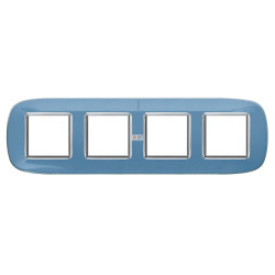 Рамка 4-ая (четверная) эллипс, цвет Голубая карамель, Axolute, Bticino